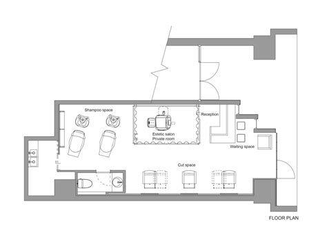 beauty salon floor plans download gallery of ki se tsu hair salon iks design 13