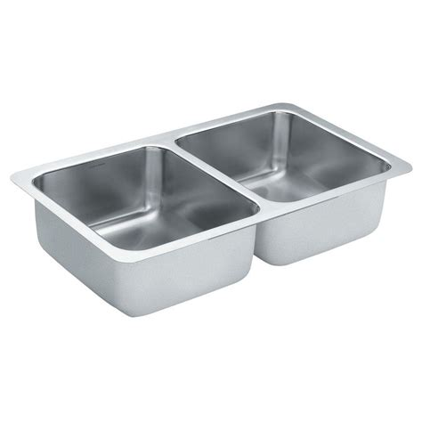 Moen Kitchen Sink Moen 2000 Series Undermount Stainless Steel 24 In Bowl Kitchen Sink G20273 The Home Depot