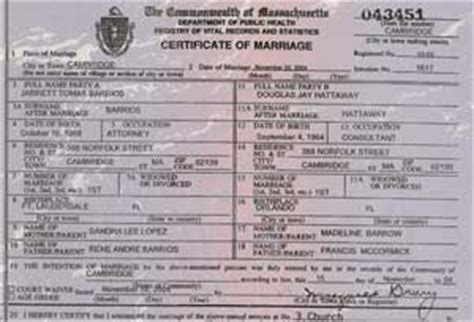 Marriage Records In Massachusetts You Should Probably This Marriage Certificate