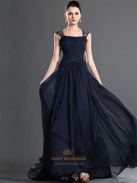 navy blue beaded prom dress navy blue chiffon beaded embellished prom dress with open