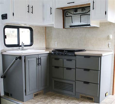 Motorhome Cupboards - rv kitchen cabinets mountain modern