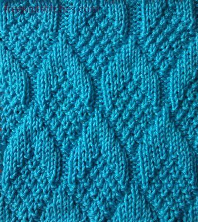 knit and purl stitch patterns knit purl stitches pine cone
