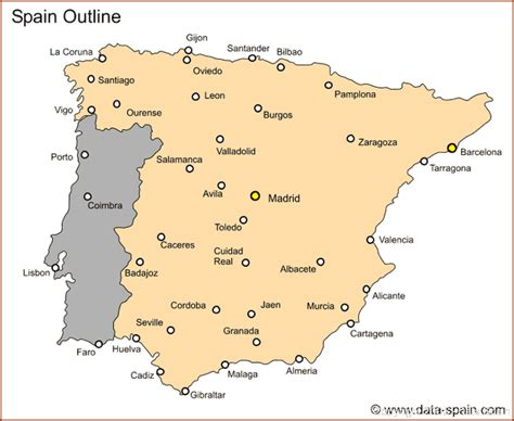 Spain Map With Cities by Map Map Of Spain Cities This Is A Country Map Tourist Map