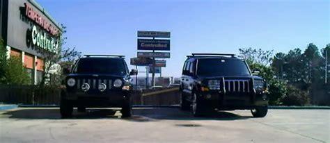 jeep commander vs patriot 2 quot lift and tires comparision size to commander