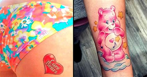 care bear tattoos 12 cheeky and cuddly care tattoos tattoodo