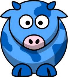 the blue cow blue cow 2 clip art at clker com vector clip art online