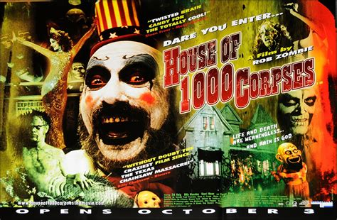 rob zombie house of 1000 corpses original film posters
