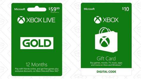 Xbox Live Membership Gift Card - buy a three or 12 month xbox live gold membership get a bonus 10 gift card