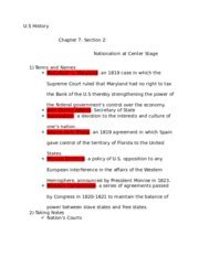 Us History Chapter 7 Section 2 by Guided Reading 7 2 Nationalism At Center Stage 3