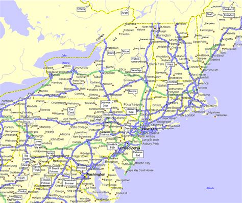 printable road map of usa with states and cities online maps northeastern united states map