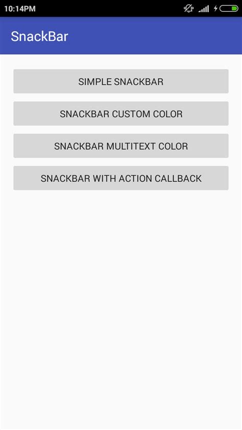 tutorial material design android android material design snackbar tutorial android