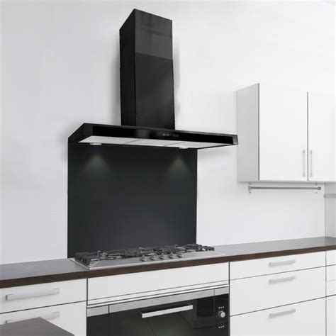 Kitchen Island Extractor by 60cm Slim Cooker Hood With Glass Front Black
