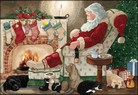 christmas santa gif christmas santa sleeping discover share gifs