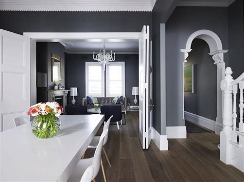dark gray wall paint dark gray paint colors transitional dining room