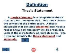 What Does Thesis Statement Thesis Statement Ppt