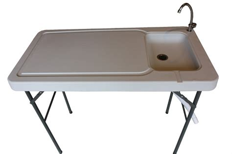 outdoor kitchen table with sink newport portable cing table with sink faucet