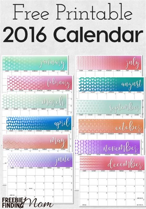 free download printable planner 2016 2016 free printable calendar download