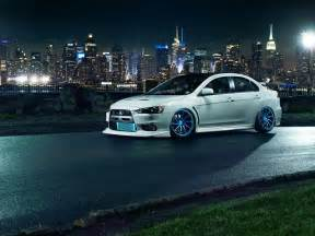 Mitsubishi Lancer Evolution Wallpaper Mitsubishi Lancer Evo X White Car Tuning Wheels Hd Desktop
