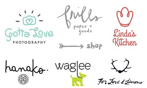 Best Handmade Fonts - 2016 logo design trends inspiration just creative