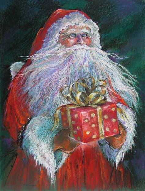 painting santa claus santa claus series by shelley gorny schoenherr