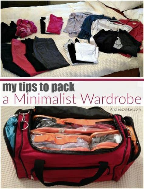tips to pack a minimalist wardrobe andrea dekker