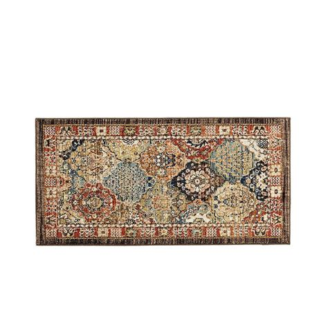 home accent rug collection home decorators collection patchwork medallion multi 2 ft x 4 ft accent rug 549992 the home