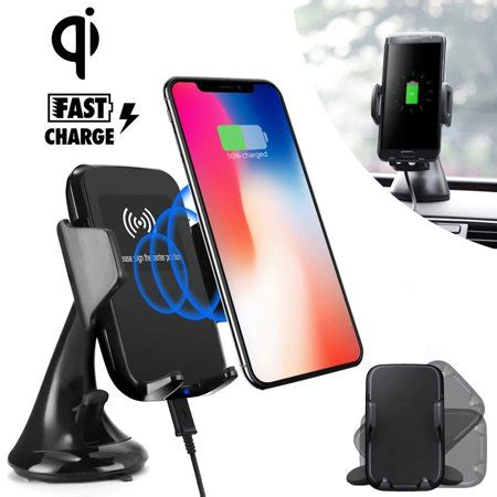 fast qi wireless car charger mount quick charging car