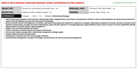 Account Relationship Manager Cover Letter by Resume Sle For Lab Assistant Organizational Skills And Competencies Exles Cv Cover