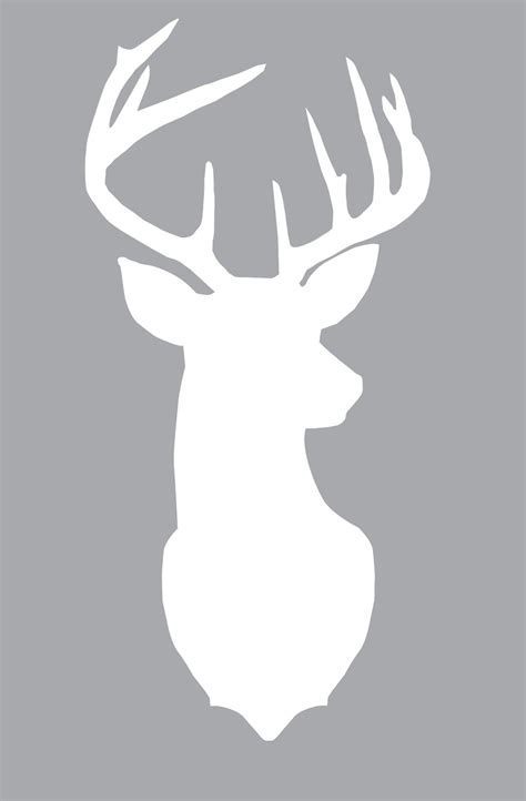 printable deer profile template calendar template 2016
