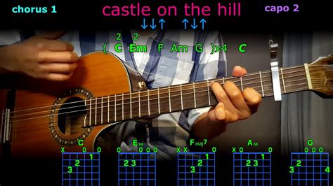 ed sheeran castle on the hill chord castle on the hill ed sheeran guitar chords youtube