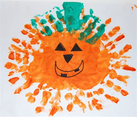 and craft thumbprint pumpkin patch print pumpkins and witches