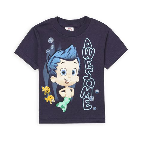 nickelodeon toddler boy s graphic t shirt bubble guppies