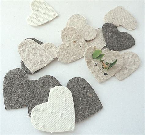 How To Make Seed Paper Favors - plantable seed paper confetti diy wedding favors place