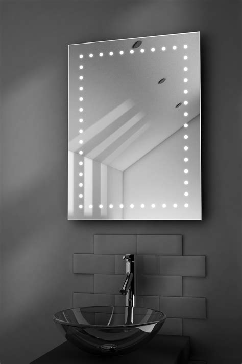 illuminated bathroom mirrors with demister inca ultra slim led bathroom illuminated mirror with