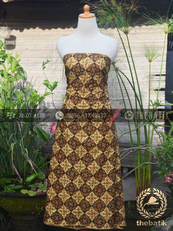 Kemeja Batik Hem Sogan Padi kain batik motif nithik soga genes thebatik co id