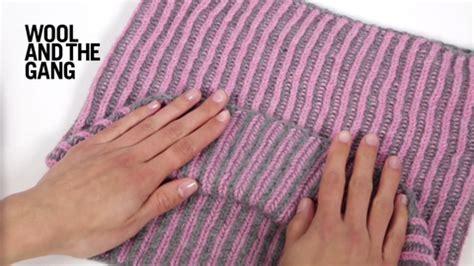 two color brioche stitch two colour brioche stitch knitting wool and the