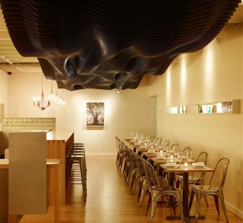 speisesaal high tables 30 gro 223 artige ideen f 252 r originelle deckenverkleidung