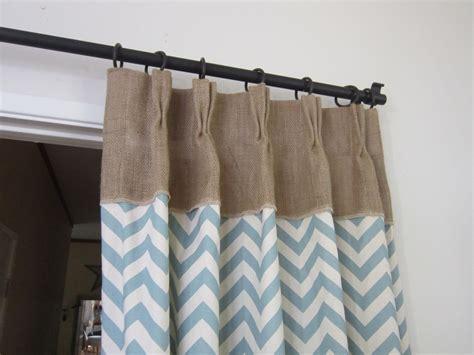 burlap drapery burlap drapes with chevron print chevron decor by pillowpuff