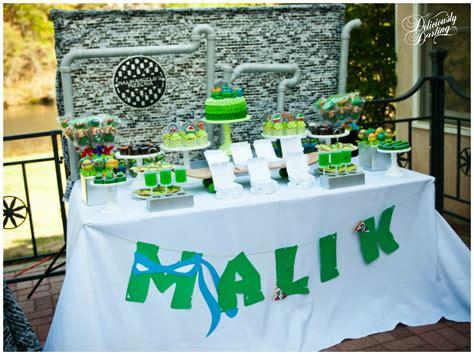 teenage mutant ninja turtles table and teenage mutant ninja turtle inspired birthday party