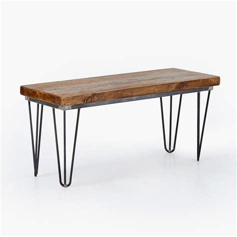 hairpin bench reclaimed hairpin bench heyl interiors