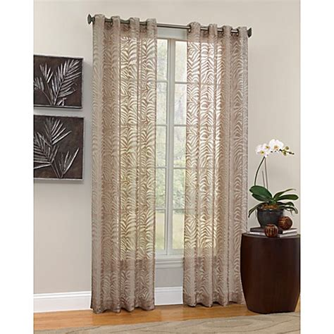 bed bath and beyond curtains and window treatments buy zahara sheer window panel from bed bath beyond