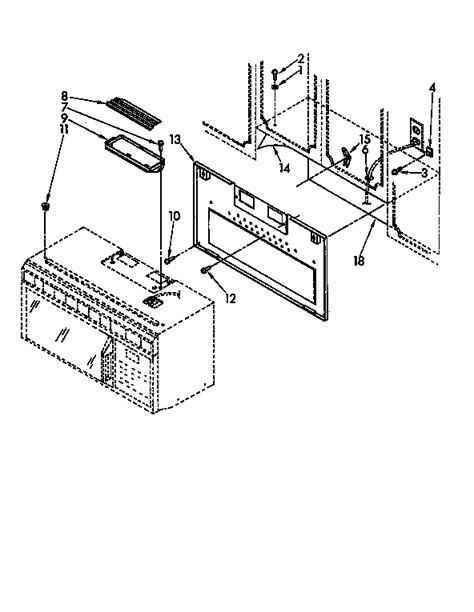 whirlpool microwave parts diagram installation diagram parts list for model mh7100xyq0