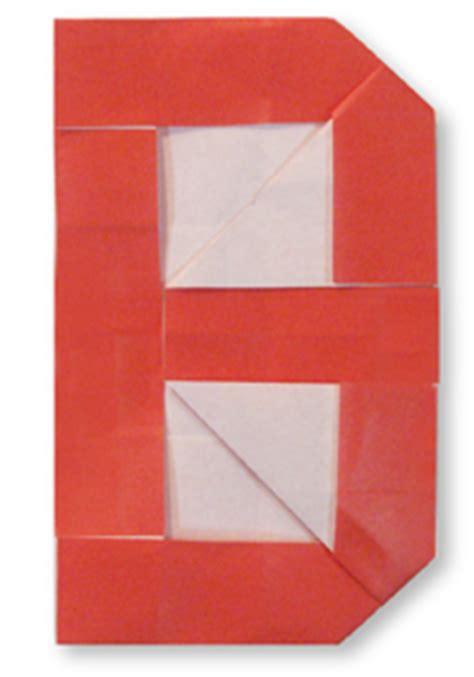 Origami B - origami alphabet b