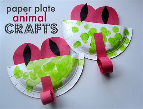 Paper Plate Arts And Crafts - paper plate animal crafts no time for flash cards