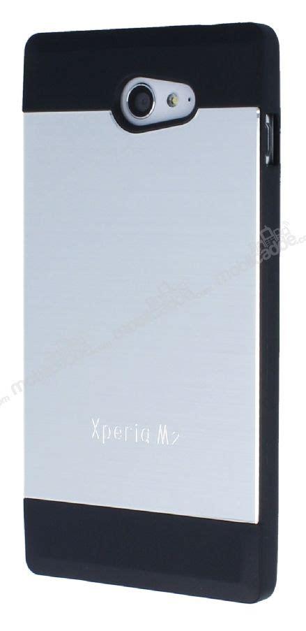 Motomo Metal Sony Experia M2 motomo sony xperia m2 silver silikon kılıf mobilcadde