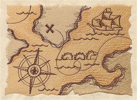pirate treasure map urban threads unique and awesome