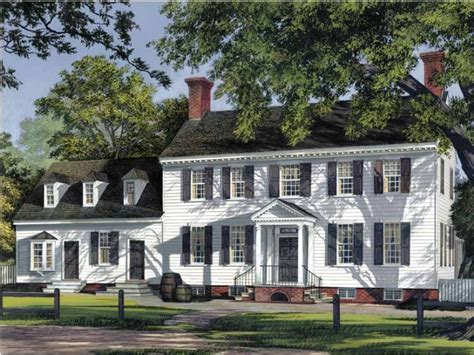 Colonial Farmhouse Plans Eplans Adam Federal House Plan House 3515 Square And 5 Bedrooms From