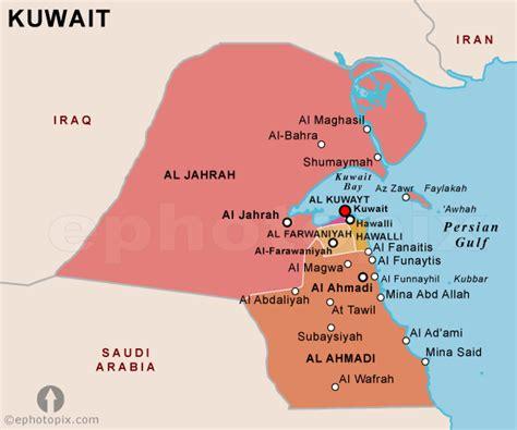 kuwait on a world map kuwait political map political map of kuwait