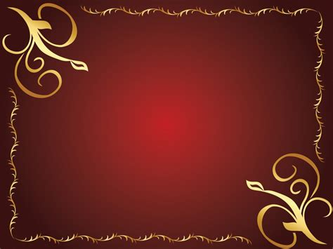 St Kid Bodas Merah golden flower design powerpoint templates border