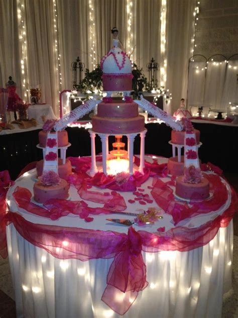 Pin Quinceanera Table Decorations Cake Pink 15 Anos Cake Themes Traditional